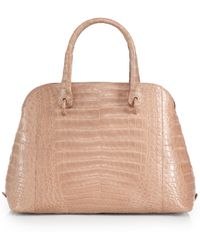 Nancy Gonzalez Medium Crocodile Dome Satchel - Lyst