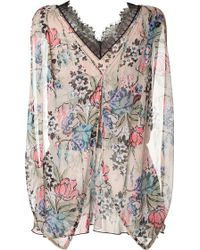 Anna Sui Rose Print Top - Lyst