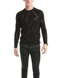 Lucien Pellat Finet Long Sleeve Thorn Of Roses Sweater In Black - Lyst