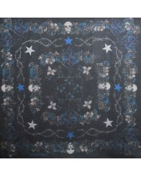 Zadig & Voltaire Kerry Orchid Skull 135X135 Shawl - Lyst