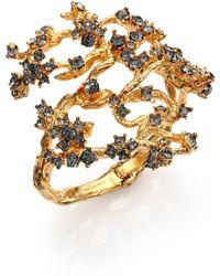 Alexander McQueen Crystal Cherry Blossom Bracelet - Lyst