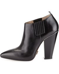 Michael Kors Lacy Pointed-Toe Bootie - Lyst