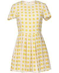 Opening Ceremony Yellow Short Dress - Lyst
