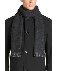 BOSS | 'marios' | Wool Silk Blend Melange Scarf | Lyst
