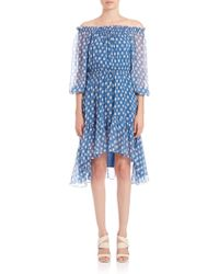 Diane von Furstenberg | Camila Off-the-shoulder Silk Dress | Lyst