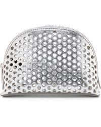 Loeffler Randall - Small Cosmetic Case - Silver - Lyst