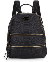 Nicole Miller Sonya Embossed Backpack - Black