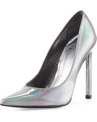 Stuart Weitzman Queen Iridescent Point-toe Pump - Lyst