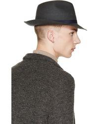 Robert Geller Green Julius Fedora Hat - Black