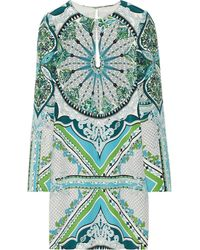 Emilio Pucci Printed Silkcady Mini Dress - Lyst