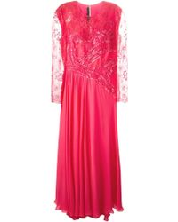 Elie Saab Embellished Lace Evening Dress - Lyst