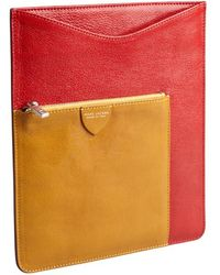 Marc Jacobs - Red And Ocher Leather Ipad Case - Lyst