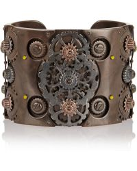 Bottega Veneta Oxidized and Rose Gold-plated Sterling Silver Cuff - Lyst
