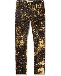 Raf Simons Bleached Slimfit Denim Jeans - Lyst