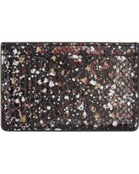 Alexander McQueen Black and Burgundy Cosmic Python Embossed Card Holder - Lyst