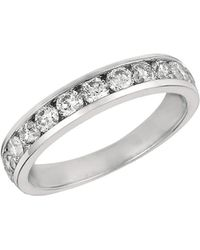 Morris & David 14k White Gold & 1 Tcw Diamond Channel-set Ring - Metallic