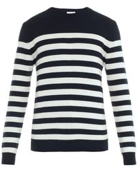 Saint Laurent Breton Stripe Sweater - Lyst