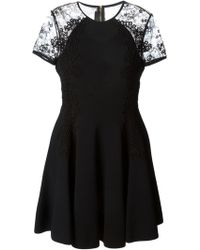 Elie Saab Lace Detail Flared Dress - Lyst