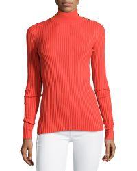 Stella McCartney Studded Ribbed Turtleneck Sweater - Lyst