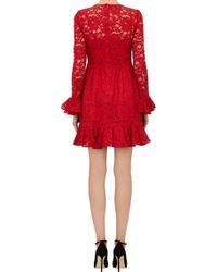 Dolce & Gabbana Ruffle Trim Lace Dress - Lyst
