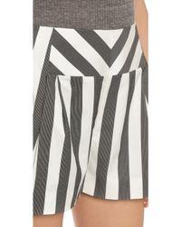 Sass & Bide - Corners Rounding Shorts - Ivory/black - Lyst