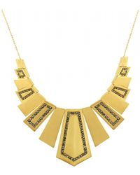 House Of Harlow Spire Deco Necklace Gold - Lyst