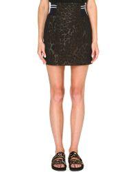 Sandro Jaisy Leopardprint Mini Skirt Multicoloured - Lyst