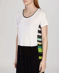 Karen Millen Tee - Pieced Graphic Stripe multicolor - Lyst