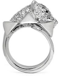 Iosselliani Crystal Pavé Panther Head Ring - Lyst