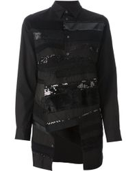Junya Watanabe Embroidered Long Shirt - Lyst