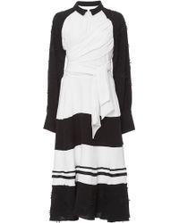 Azede Jean-Pierre - Black Tie Waist Shirt Dress - Lyst