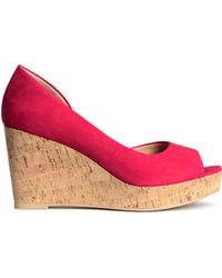 H&M Peep-Toes With A Wedge Heel - Lyst