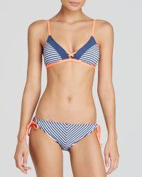 Splendid Sporty Blues Triangle Bra Bikini Top - Lyst