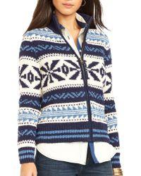 Ralph Lauren Lauren Geometric Pattern Sweater - Lyst