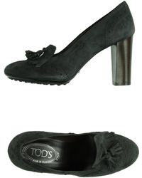 Tod's Moccasins gray - Lyst