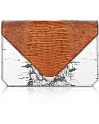 Alexander Wang Prisma Envelope Clutch in Embossed Tricolor with Rhodium - Lyst