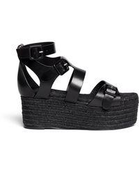 Pierre Hardy Leather Espadrille Platform Sandals - Lyst