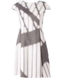 ANREALAGE - Printed Flared Dress - Lyst