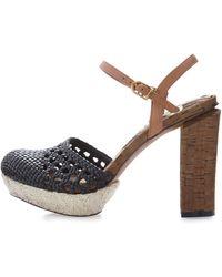 Sam Edelman Rella Two-Tone Platform Sandal - Lyst