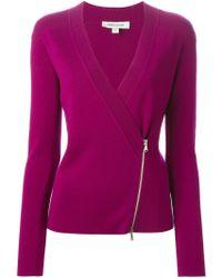 Balmain V-neck Zipped Cardigan - Multicolour