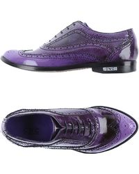 CoSTUME NATIONAL Ombre Patent-Leather Shoes - Purple