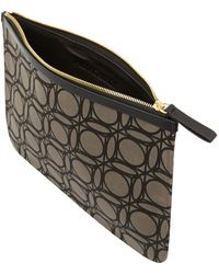 Pierre Hardy Large Grey Velvet Abstract Clutch - Lyst