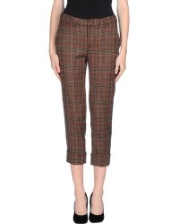 Jucca Casual Trouser brown - Lyst