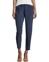 Joie Silk Drawstring Pants - Lyst