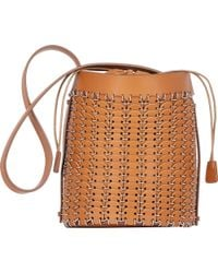 Paco Rabanne Leather & Chain Mail Bucket Bag - Lyst