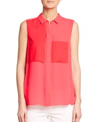 Elie Tahari Shelby Blouse - Lyst