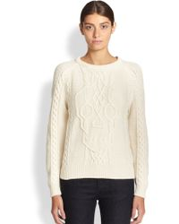 Alexander McQueen Cable-knit Skull Sweater - Lyst