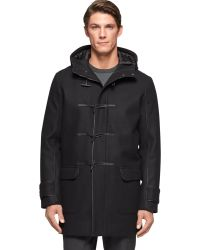 Calvin Klein Ck Premium Modern Wool-Blend Toggle Coat black - Lyst