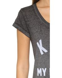 ELEVEN PARIS Kate Is My Religion Tee - Burn Out Jersey Black