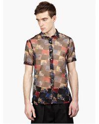 Raf Simons Men'S Graphic Floral Shirt multicolor - Lyst
